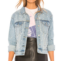 by the way. Pearl Denim Jacket in Light Blue Wash | REVOLVE