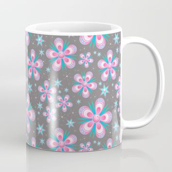 Pink flower pattern Mug by ARTPICS