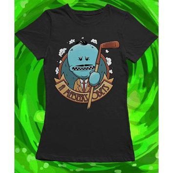 Rick and Morty Women's Shirt, Meeseeks Obeys, S-2XL Schwifty szechuan