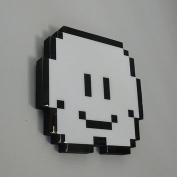 lakitu's cloud super mario wall art by pixelparty on Etsy
