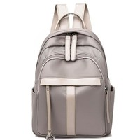 Simple Pure Color Student Bag Outdoor Travel Backpack