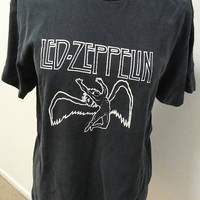 Led Zeppelin T-Shirt Size L Soft & Distressed