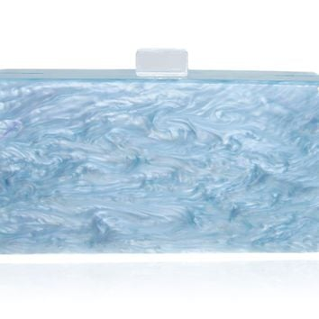 Light Blue Mother of Pearl  Acrylic Clutch