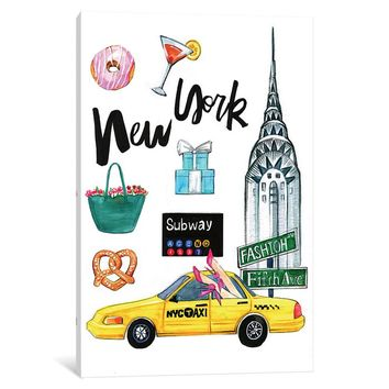 'New York' Graphic Art on Wrapped Canvas