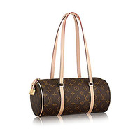 Authentic Louis Vuitton Classic Monogram Canvas Papillon NM Handbag Article: M40711