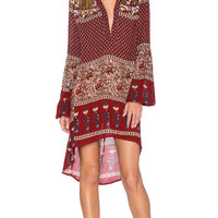 Enchanted Forest Tunic in Maroon