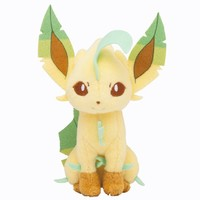 Pokémon Center Original Plush Doll Sitting Trick Pose Leafeon