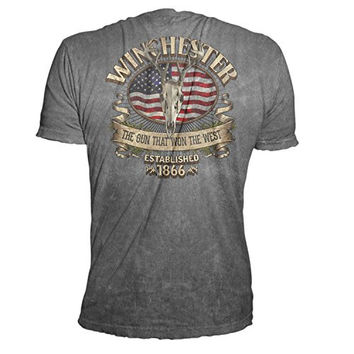Official Winchester Men's Limited Edition Southern Rebel Skull Graphic Short Sleeve T-Shirt