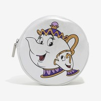 Licensed cool Disney Danielle Nicole Beauty & the Beast Mrs. Potts Chip Makeup Cosmetic Bag