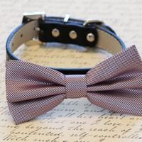 Lavender Dog Bow tie with Collar, Wedding dog accessory, Dog Bow Tie