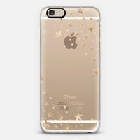 STARSHOWER GOLD Crystal Clear iphone case iPhone 6 case by Monika Strigel | Casetify