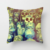 skulls Throw Pillow by Marianna Tankelevich