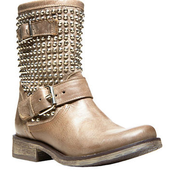 Steve Madden Monicaa Leather Studded Ankle Boots