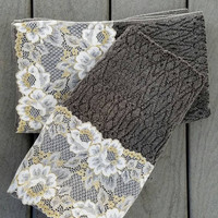 Gray Decorative Towel set, Black Hand Towels Set of 2, House warming Gift, Kitchen hand towels, New Apartment Gift, Birthday Gift for Mom