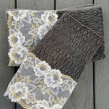 gray decorative towel set black hand towels set of 2 house warming gift - Decorative Hand Towels