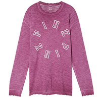 Long Sleeve Campus CrewTee - PINK - Victoria's Secret