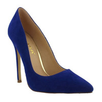 Royal Blue Classic Suede Heels