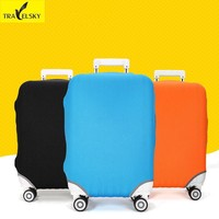 "New Travelsky 2017 Fashion Suitcase Pure Colors Luggage Cover For 18""-30""Travel Suitcase Protective Dust Covers Free Shipping"