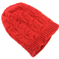 Red Wool Knit Hat