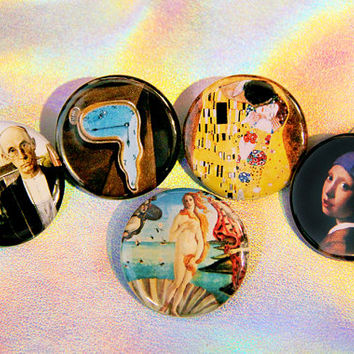 Art History Buttons - Famous Paintings Button Pack