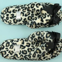 Leopard Print Spa Slippers