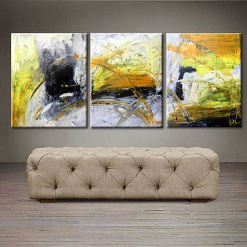 """'Sunshine for days'  - 48"""" X 20"""" Original Abstract  Art. Free-shipping within USA & 30 day return Policy."""