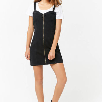Denim Pull-Ring Mini Dress