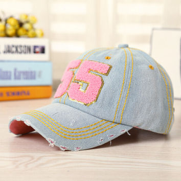 Womens Vintage Retro Denim Baseball Cap Hot Summer Gift 41