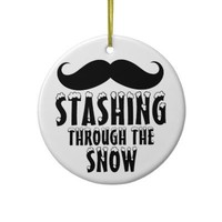 Stashing Through the Snow Christmas Tree Ornaments from Zazzle.com