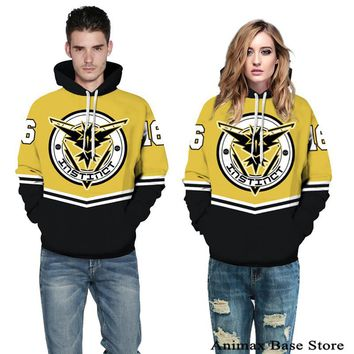 Pokemon Go Team Instinct Zapdos hooded coat lovely couples clothes