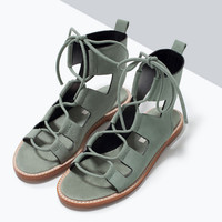 New Summer Lace Up Sandals = 4777191364