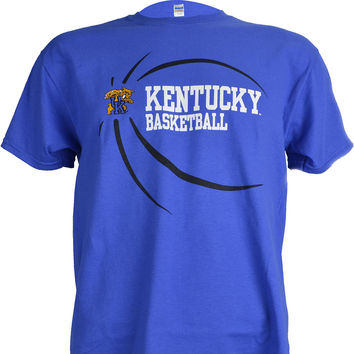 University of Kentucky UK Ball on a Blue Short Sleeve T Shirt