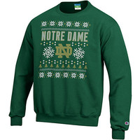 University of Notre Dame Ugly Sweater Crewneck Sweatshirt | University Of Notre Dame