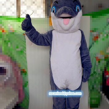 Dolphins Cartoon Mascot Costume, Cosplay Costume, Costumes for Adults, Clothing,Party Costumes,Halloween Costumes,Costume Shows,Birthday Cos