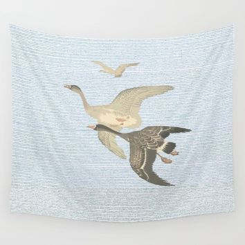Nothing to match the flight of wild birds flying Wall Tapestry by anipani