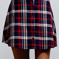 LA Hearts Plaid Button-Front Skirt at PacSun.com