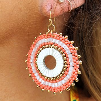 Take It Away Earrings: Coral/Multi