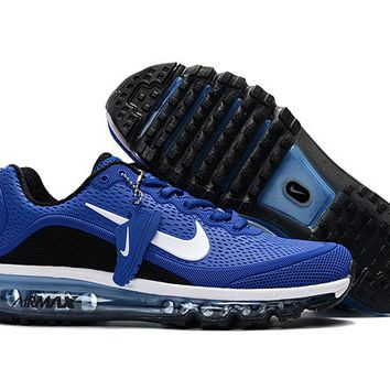 Air Max 2017 Men Shoes Treasure blue black