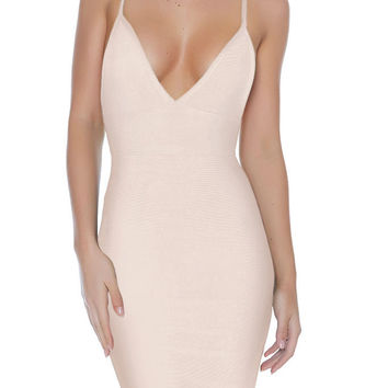 """Paris"" Bandage Dress - Nude"