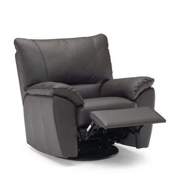 Trento Reclining Leather Chair by Natuzzi Editions--Power Option Available
