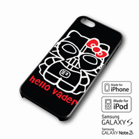 Hello Darth Vader iPhone case 4/4s, 5S, 5C, 6, 6 +, Samsung Galaxy case S3, S4, S5, Galaxy Note Case 2,3,4, iPod Touch case 4th, 5th, HTC One Case M7/M8