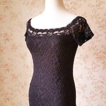 2016 black lace top, Bridal lace top, Custom Size lace topper, Short Sleeve Bridal Separates, Black Top, Summer lace Shirts for woman(WT01)