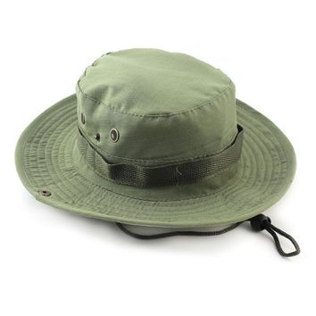 Fishing Caps Hat Brim Military Camo Mens Bucket Hunting Boonie Wide Sun Outdoor
