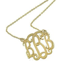*[N/L]-Monogram Necklace ~B~ Goldtone