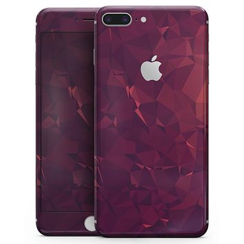 Red and Burgandy Geometric Shapes - Skin-kit for the iPhone 8 or 8 Plus