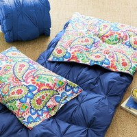 Pin Tuck Sleeping Bag + Pillowcase, Paisley