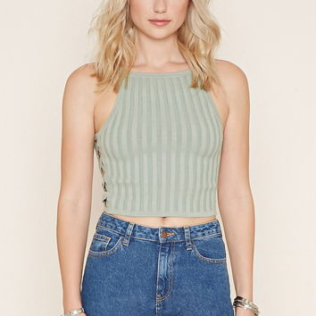 Ribbed Knit Cropped Cami