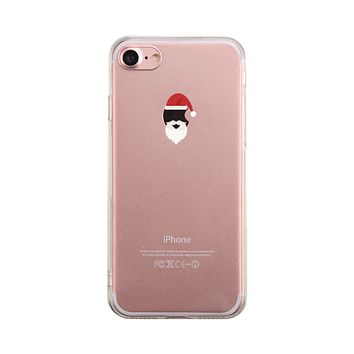Santa On Apple Phone Case Cute Clear Phonecase