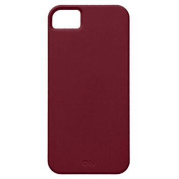 Burgundy iPhone 5 Custom Case-Mate ID