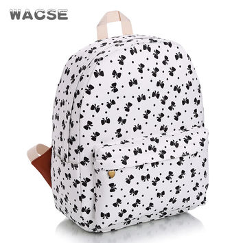 Canvas Casual Butterfly Fashion Stylish Travel Backpack = 4887935684